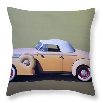 1936 Buick Coupe Throw Pillow