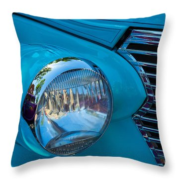1936 Chevy Coupe Headlight And Grill Throw Pillow