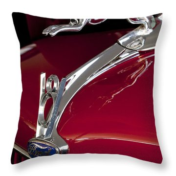 1936 Ford 68 Pickup Hood Ornament Throw Pillow by Jill Reger