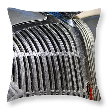 1936 Oldsmobile Hood Ornament Throw Pillow by Jill Reger