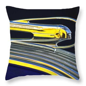 1936 Pontiac Hood Ornament Throw Pillow by Jill Reger