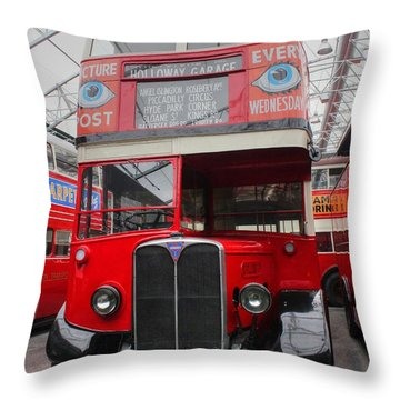 1937 Aec Regent I Bus Stl2377 Throw Pillow