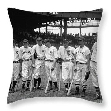 1937 All Star Baseball Players Throw Pillow