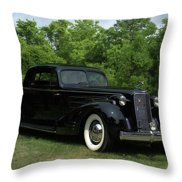 1937 Cadillac V16 Fleetwood Stationary Coupe Throw Pillow