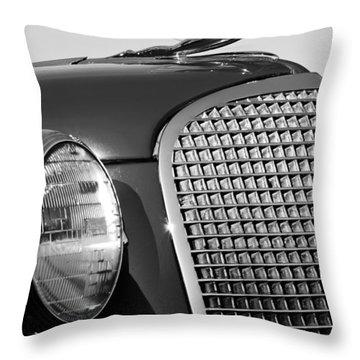 1937 Cadillac V8 Hood Ornament 3 Throw Pillow by Jill Reger