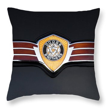 1937 Dodge Brothers Emblem Throw Pillow by Roger Mullenhour