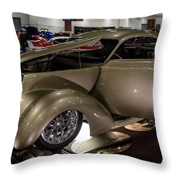 Throw Pillow featuring the photograph 1937 Ford Coupe by Randy Scherkenbach