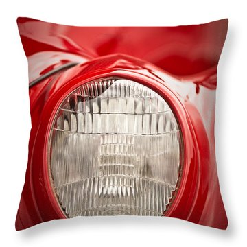1937 Ford Headlight Detail Throw Pillow