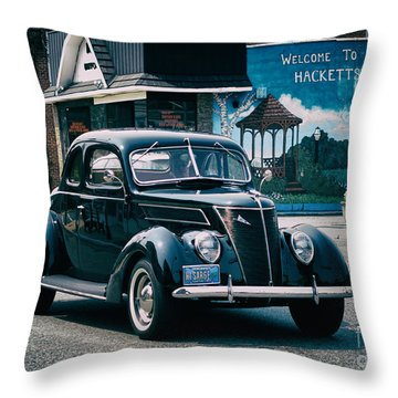 1937 Ford Sedan Throw Pillow