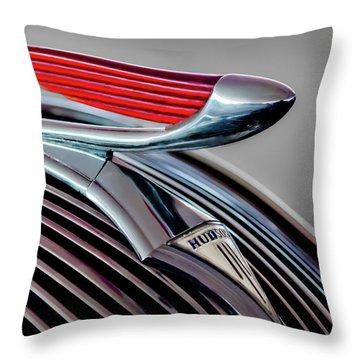 1937 Hudson Terraplane Hood Ornament -0686g Throw Pillow