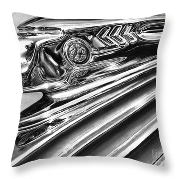 1937 Pontiac Chieftain Abstract Throw Pillow by Peter Piatt
