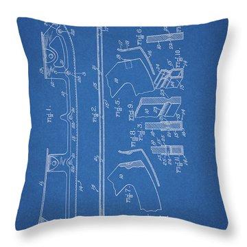 1938 Ice Skate Patent Throw Pillow