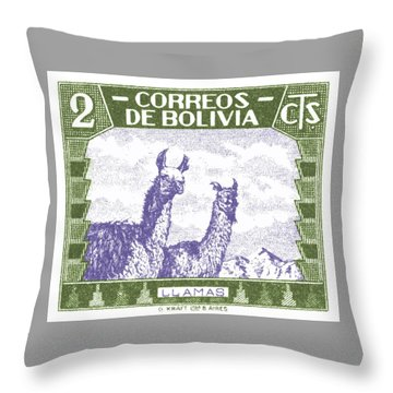 Alpaca Digital Art Throw Pillows