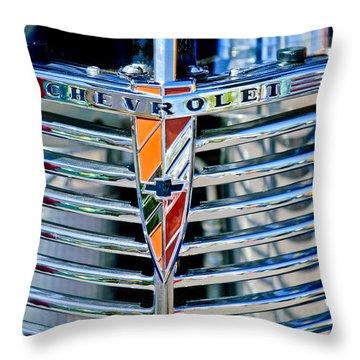 1939 Chevrolet Coupe Grille Emblem Throw Pillow