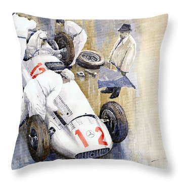 1939 German Gp Mb W154 Rudolf Caracciola Winner Throw Pillow