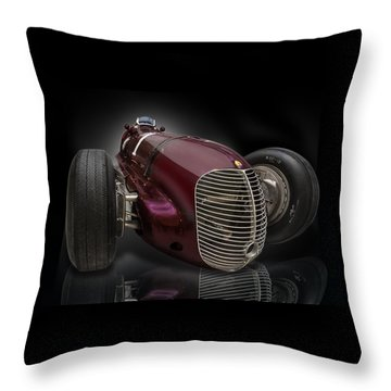 1939 Maserati 8ctf Indy Racer Throw Pillow