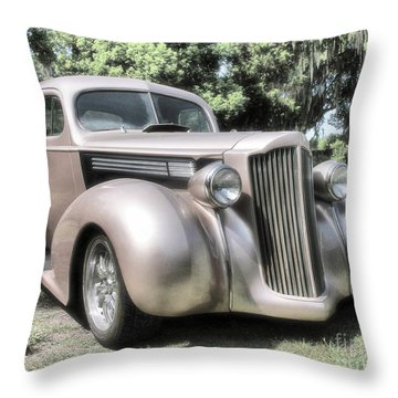 1939 Packard Coupe Throw Pillow by Richard Rizzo