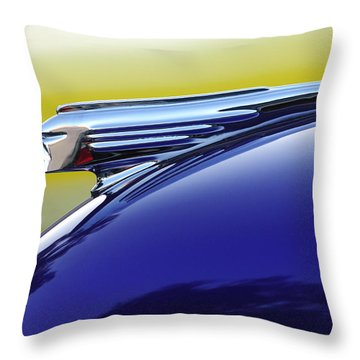 1939 Pontiac Coupe Hood Ornament Throw Pillow by Jill Reger