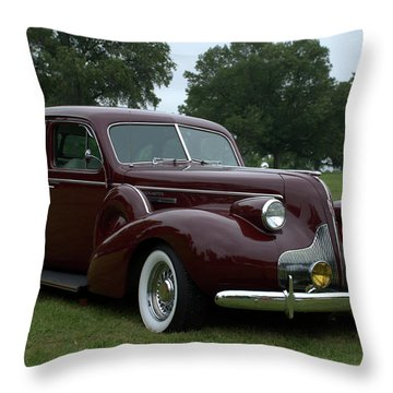 1939 Buick Roadmaster Formal Sedan Throw Pillow