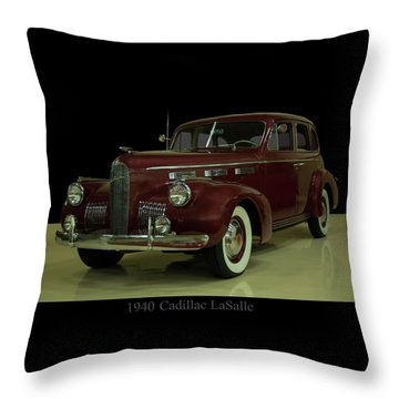 1940 Cadillac Lasalle Throw Pillow