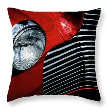 Throw Pillow featuring the photograph 1940 Chevy 2-door by Eric Christopher Jackson