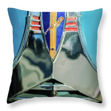 1940 Dodge Business Coupe Emblem Throw Pillow by Jill Reger