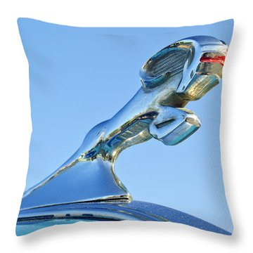 1940 Dodge Business Coupe Hood Ornament Throw Pillow by Jill Reger