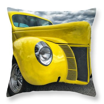 1940 Ford Deluxe Coupe Throw Pillow
