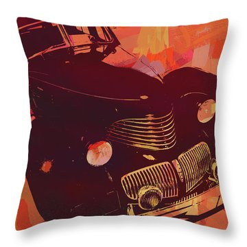 1940 Hupp Skylark Red Pop Throw Pillow