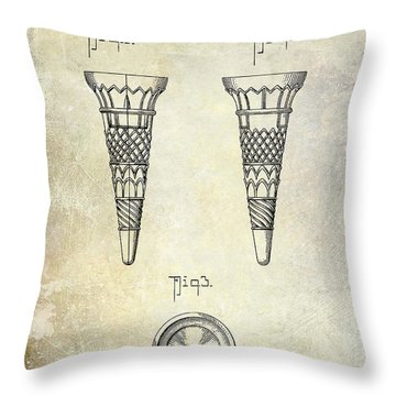 1940 Ice Cream Cone Patent Throw Pillow