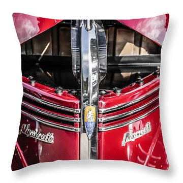 1940 Plymouth Deluxe Throw Pillow