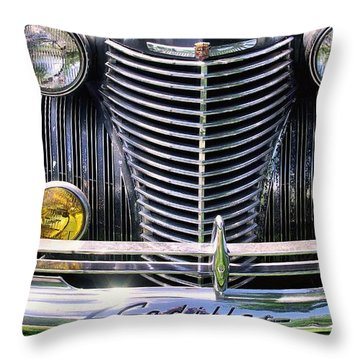 1940s Caddie Full Frontal Oh La La Throw Pillow