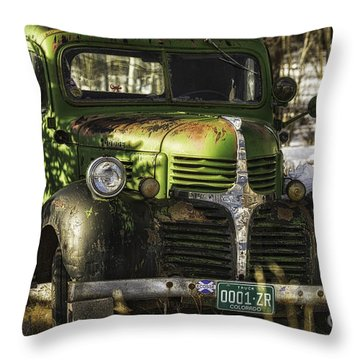 Throw Pillow featuring the photograph 1940's Dodge  by Bitter Buffalo Photography