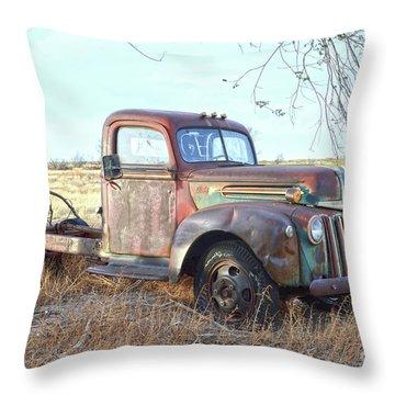1940s Ford Farm Truck Throw Pillow