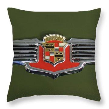 1941 Cadillac 62 Emblem Throw Pillow by Jill Reger