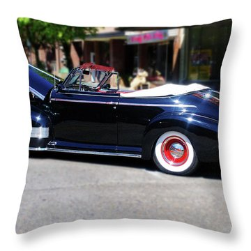 1941  Chevrolet Convertable Throw Pillow