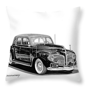 Throw Pillow featuring the painting 1941 Dodge Town Sedan by Jack Pumphrey