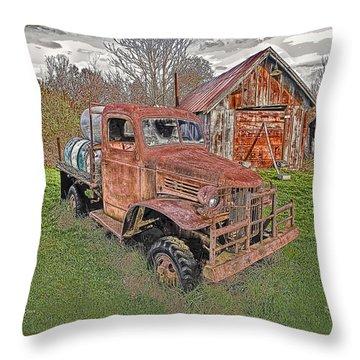 1941 Dodge Truck #2 Throw Pillow by Mark Allen