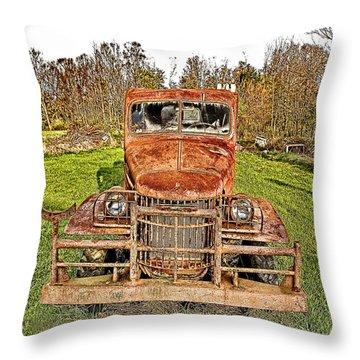 1941 Dodge Truck 3 Throw Pillow by Mark Allen