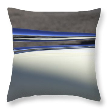 1941 Lincoln Continental Cabriolet V12 Hood Ornament Throw Pillow by Jill Reger