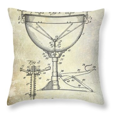 1941 Ludwig Drum Patent  Throw Pillow