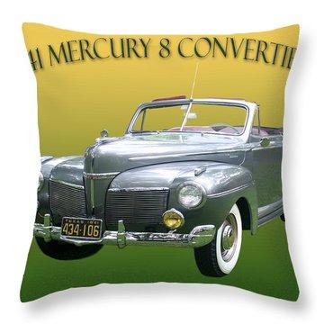 1941 Mercury Eight Convertible Throw Pillow