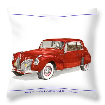 1941 Mk I Lincoln Continental Throw Pillow by Jack Pumphrey