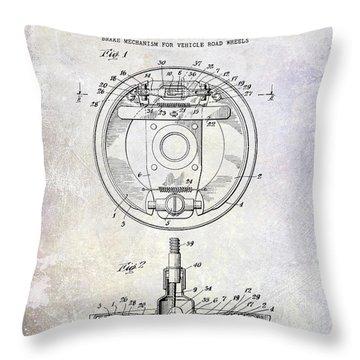 1941 Porsche Brake Mechanism Patent Throw Pillow