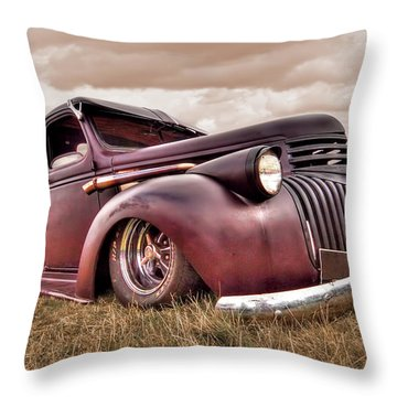 1941 Rusty Chevrolet Throw Pillow