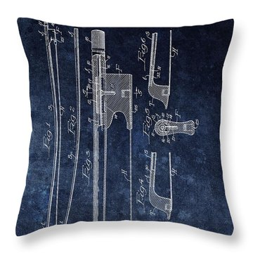1941 Violin Bow Patent Throw Pillow