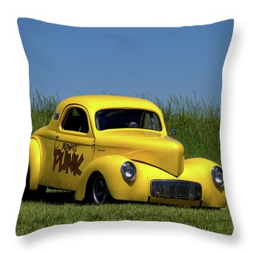1941 Willys Coupe Dragster Throw Pillow