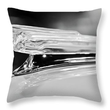 1942 Chevrolet Fleetline Hood Ornament 2 Throw Pillow by Jill Reger