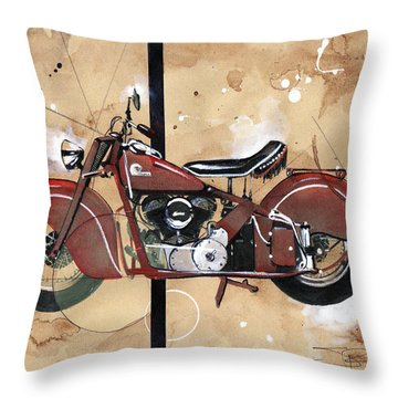1946 Chief Throw Pillow