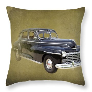 1946 Dodge D24c Sedan Throw Pillow